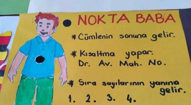 Fatma Öğretmenden noktalama işaretleri ailesi