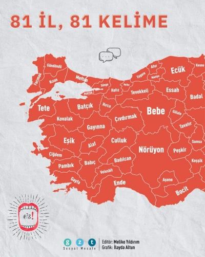 Türkiye'nin Kelime Haritası