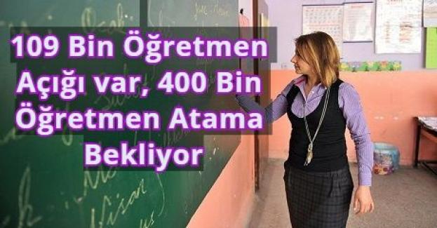 Bakan İsmet Yılmaz: 109 bin öğretmen açığımız var, 400 bin öğretmen atama bekliyor