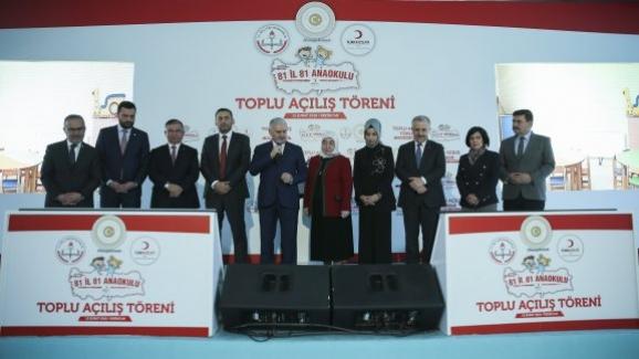 Başbakan Ve Bakan İsmet Yılmaz,  81 İl 81 Anaokulu Toplu Açılışına Katıldı
