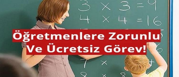 Gönüllü Öğretmen Bulunamaması Durumunda, Öğretmenlere Zorunlu Ve Ücretsiz Görev!