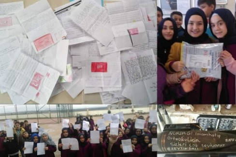 İmam Hatip Ortaokulu Öğrencilerinden Mehmetçiğe Mektup