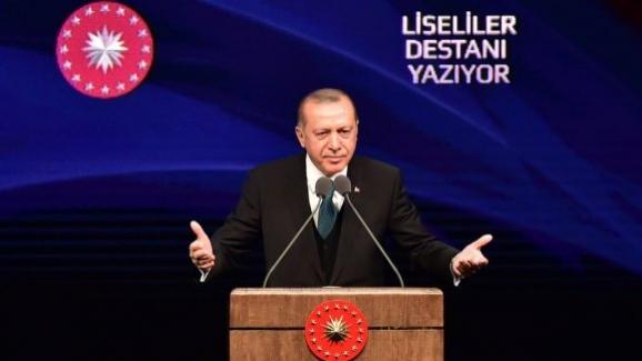 """Cumhurbaşkanı Erdoğan ve Bakan Yılmaz, """"Liseliler Destanı Yazıyor"""" yarışmasının ödül törenine katıldı"""