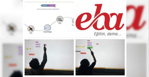 Eba'da blok tabanlı kodlama araçlarından blockly game ile kodlama