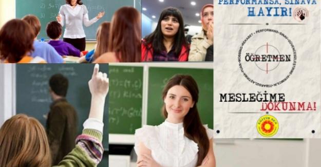 Eğitim Sen'den: Performans Değerlendirme Sistemine Karşı Mesleğime Dokunma Kampanyası !