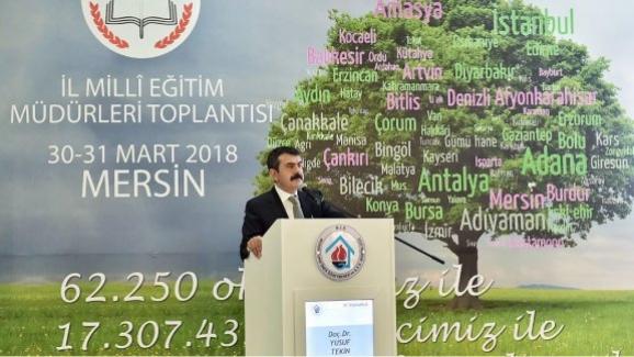 MEB Müsteşarı Yusuf Tekin, İl millî eğitim müdürleriyle bir araya geldi