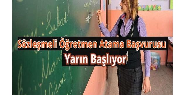 Sözleşmeli Öğretmen Atama Başvurusu Yarın Başlıyor