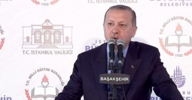 Cumhurbaşkanı Recep Tayyip Erdoğan, Eğitimde istediğimiz seviyeye ulaşamadık