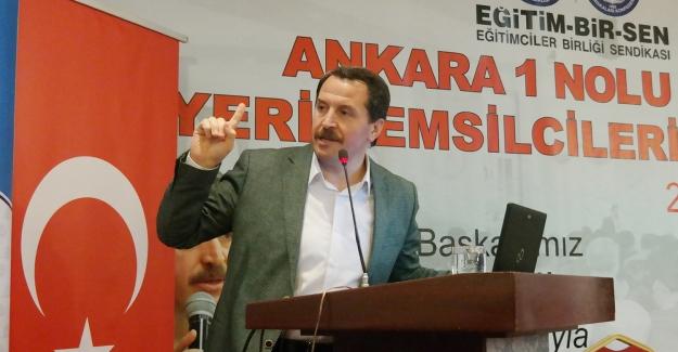 Eğitim-Bir-Sen ve Memur-Sen Genel Başkanı Ali Yalçın: İş güvencesine dokunmak, kaosa davetiye çıkarmaktır