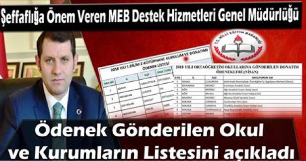 Şeffaflığa Önem Veren MEB DHGM Ödenek Gönderilen Okul Ve Kurumların Listesini Açıkladı