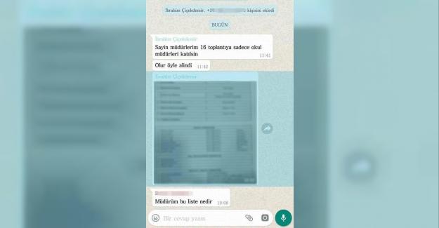 Daha Sınav Yapılmadan Temmuz Ayında Atanacak Okul Müdür Listesini WhatsApp'tan Okul Müdürleri Grubuna Gönderince!