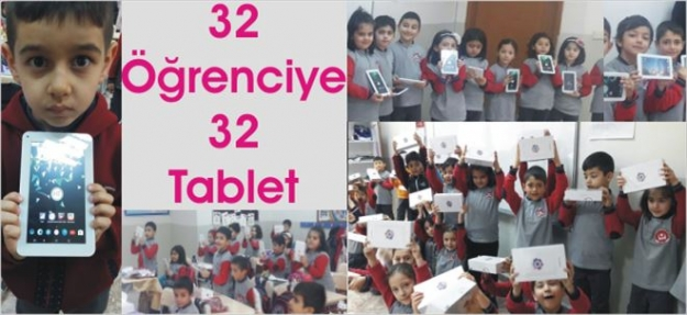 Yeter ki Çocuklar GÜLSÜN! 32 Öğrenciye Tablet