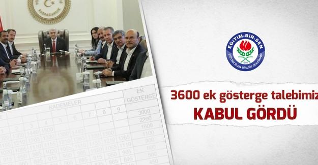 Eğitim Bir Sen: 3600 ek gösterge talebimiz kabul gördü