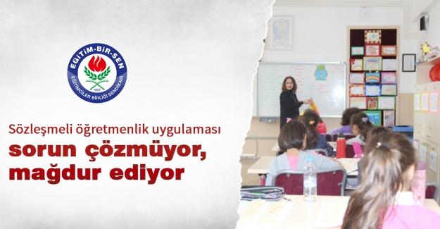 Eğitim Bir Sen: Sözleşmeli öğretmenlik uygulaması sorun çözmüyor, mağdur ediyor