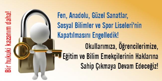 Eğitim Sen: Fen, Anadolu, güzel sanatlar, sosyal bilimler ve spor liselerinin kapatılmasını engelledi