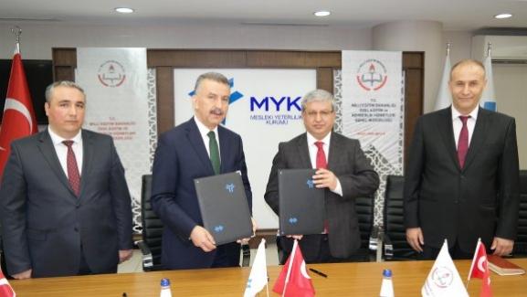 MEB: Mesleki Yeterlilik Kurumu ile Genel Müdürlüğü Arasında İşbirliği Protokolü İmzalandı