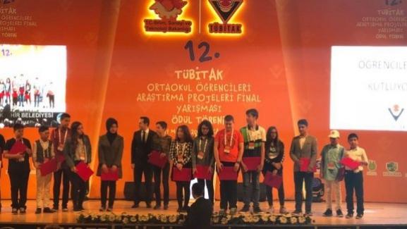 TÜBİTAK 11. Ortaokul Öğrencileri Araştırma Projeleri Yarışması Finali Yapıldı.