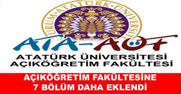 Açık Öğretim Fakültesine (AÖF) 'ye Yeni Bölümler Eklendi