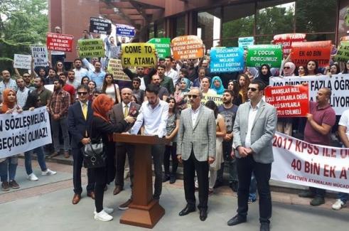 Atama Bekleyen Öğretmenler Dün Ankara'da Eylem Yaptı