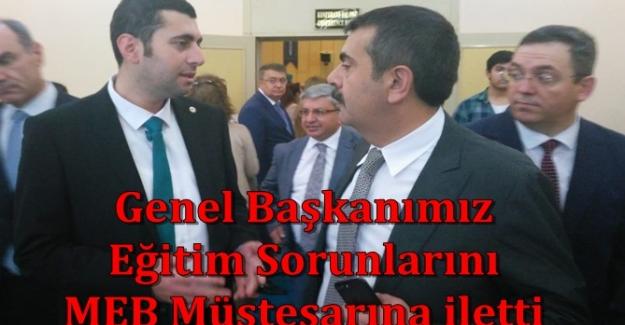 Mehmet Alper ÖĞRETİCİ: Yusuf TEKİN' e SÖZLEŞMELİ ÖĞRETMENLERİN mağduriyetinin giderilmesi gerektiği bildirildi