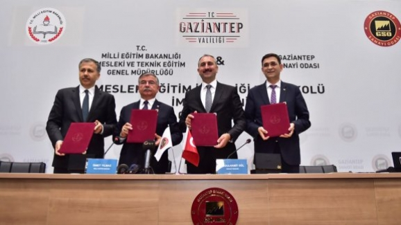 Milli Eğitim Bakanlığı: Gaziantep Sanayi Odası ile Mesleki Eğitim İş Birliği Protokolü