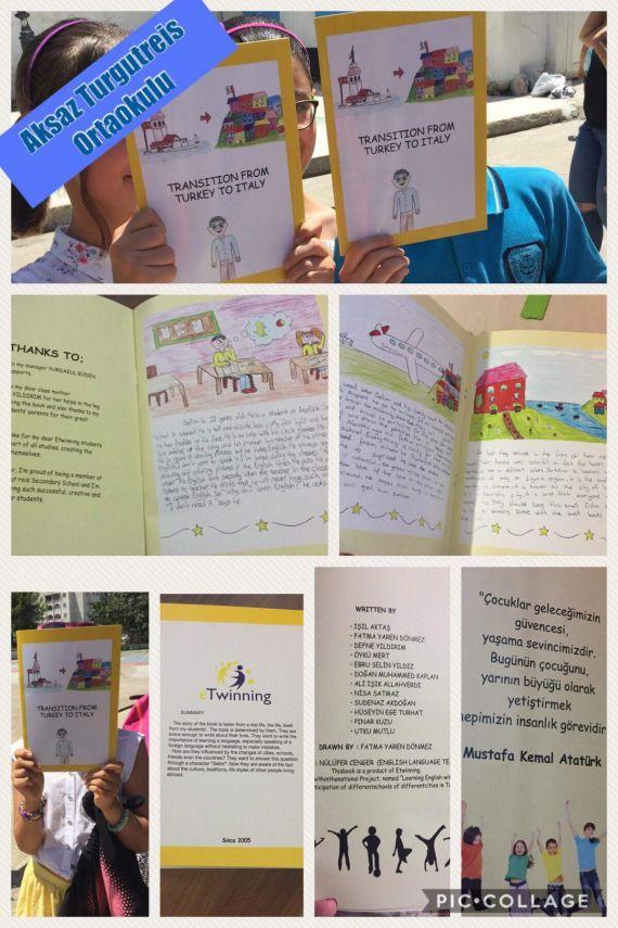 Ögrenciler Eğlenerek ingilizce öğrenirken kitap yazdı.