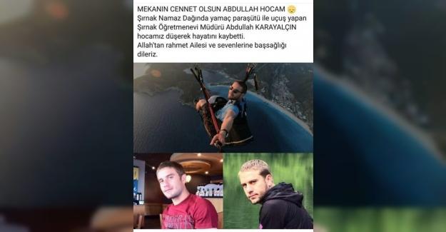 Yamaç Paraşütü Yaparken Kayalıklara Düşen Öğretmen Hayatını Kaybetti