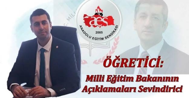 AES Genel Başkanı Mehmet Alper ÖĞRETİCİ, Milli Eğitim Bakanı Ziya Selçuk'un Açıklamaları Sevindirici