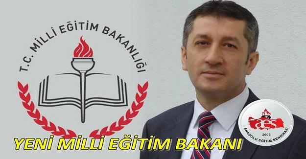 AES'ten Yeni Milli Eğitim Bakanı