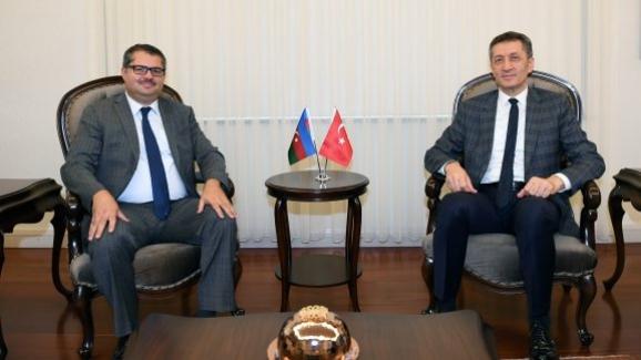 Bakan Ziya Selçuk, Azerbaycan Büyükelçisi İbrahim'i kabul etti