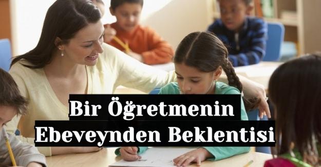 Bir Öğretmenin Ebeveynden Beklentisi