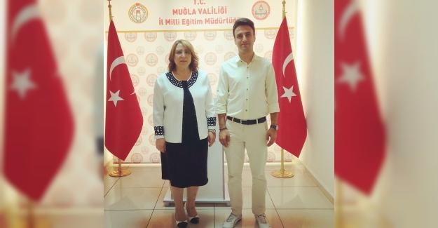 Sedat Değer Muğla İl Milli Eğitim Müdürü Pervin Töre'ye Hayırlı Olsun Ziyareti Yaptı