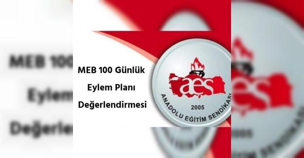 Anadolu Eğitim Sendikasının, Milli Eğitim Bakanlığı'nın 100 günlük eylem planı değerlendirmesi