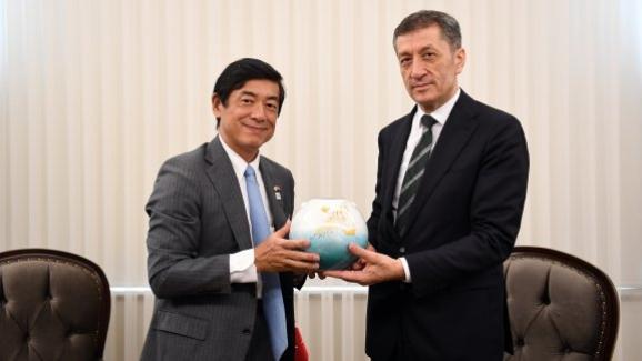 Bakan Ziya Selçuk, Japonya Büyükelçisi Mıyajıma'yı kabul etti