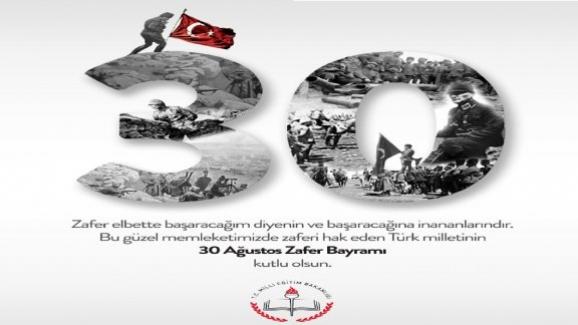 Milli Eğitim Bakanı Ziya Selçuk'dan 30 Ağustos Zafer Bayramı Mesajı