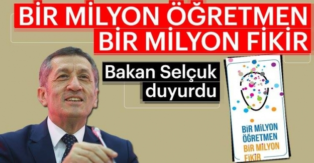 1 MİLYON ÖĞRETMEN 1 MİLYON FİKİR UYGULAMASINA DAVET..