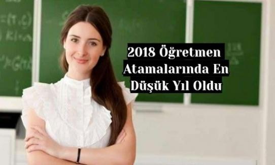 2018 Öğretmen Atamalarında En Düşük Yıl Oldu