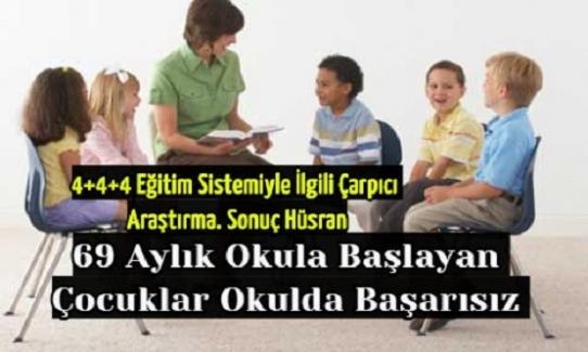 69 Aylık Okula Başlayan Çocuklar Okulda Başarısız