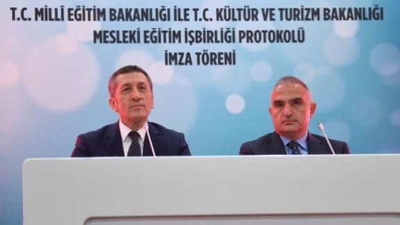 """Kültür ve Turizm Bakanlığı ile """"Mesleki Eğitimin Güçlendirilmesi İş Birliği Protokolü"""""""