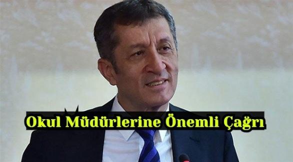 Milli Eğitim Bakanı Ziya Selçuk'tan Okul Müdürlerine Önemli Çağrı