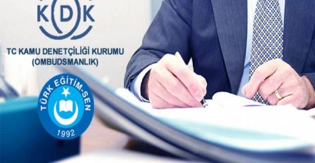 Türk Eğitim Sen Kabul Edilmeyen Talepleri İçin Kamu Denetçiliği Kurumuna Başvurdu