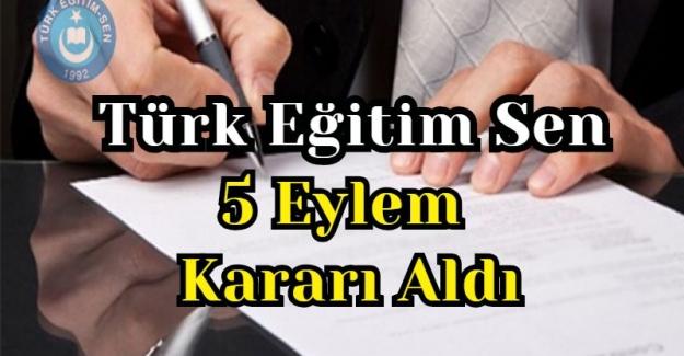 Türk Eğitim Sen Yeni 5 Eylem Kararı Aldı
