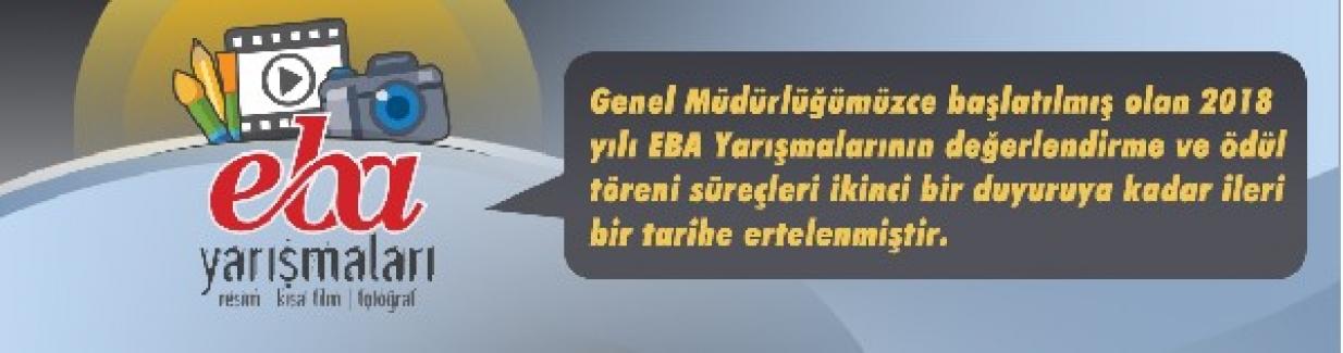 MEB'den EBA Yarışmaları Erteleme Duyurusu