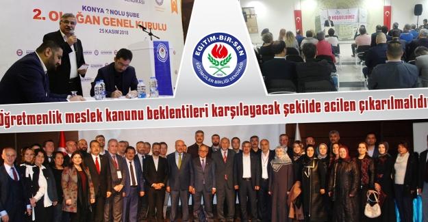EBS Genel Başkan Vekili Latif Selvi, Öğretmenlik Meslek Kanunu Beklentileri Karşılayacak Şekilde Hemen Çıkarılmalıdır