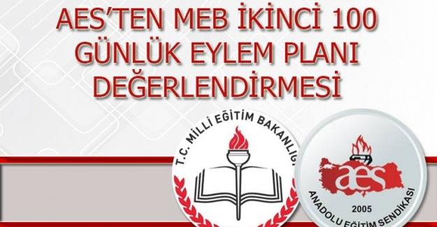 AES'TEN MEB İKİNCİ 100 GÜNLÜK EYLEM PLANI DEĞERLENDİRMESİ