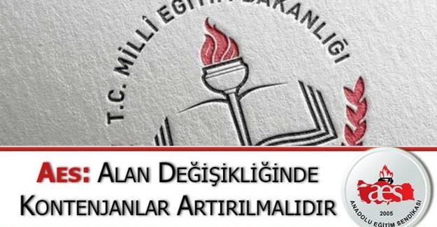 Anadolu Eğitim Sendikası: Alan Değişikliğinde Kontenjanlar Arttırılmalı
