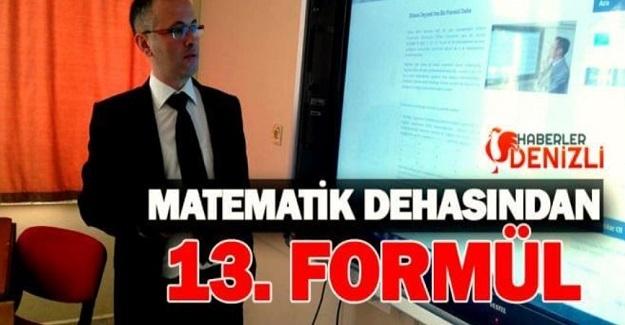 ETHEM DEYNEK 13'ÜNCÜ FORMÜLÜNÜ YAYINLADI