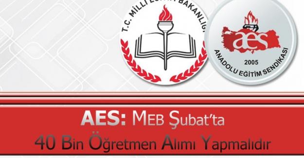 MEB Şubat'ta 40 Bin Öğretmen Alımı Yapmalıdır