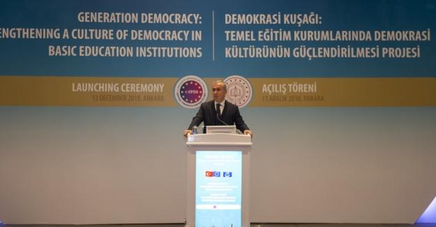 """MEB """"TEMEL EĞİTİM KURUMLARINDA DEMOKRASİ KÜLTÜRÜNÜN GÜÇLENDİRİLMESİ PROJESİ"""""""