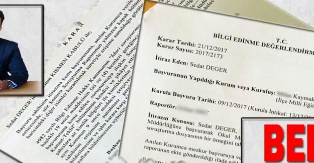Milli Eğitim Bakanlığı yine Sedat Değer'in yazısındaki gibi uygulamaya imza attı